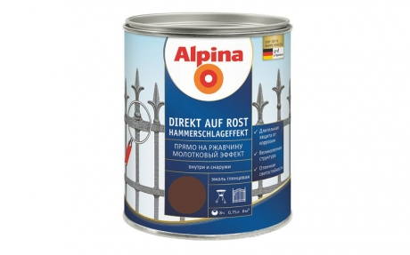 Alpina Direkt auf Rost Hammerschlageffekt Braun