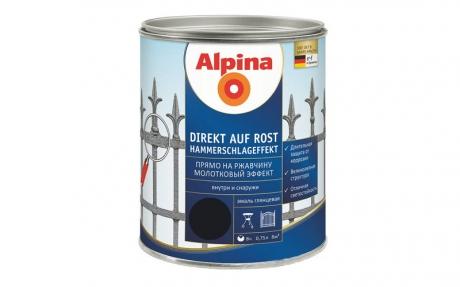 Alpina Direkt auf Rost Hammerschlageffekt Schwarz