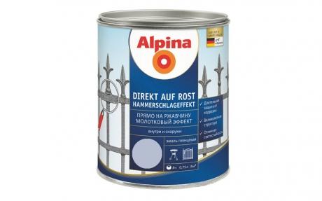 Alpina Direkt auf Rost Hammerschlageffekt Silber